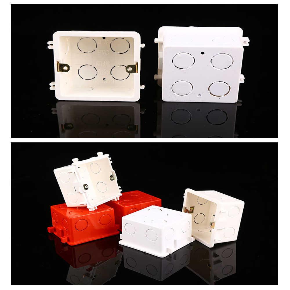 1PC boîte de montage mural Standard lumière tactile interrupteur Cassette boîte de jonction de haute qualité PVC plastique ignifuge Waring boîte arrière