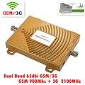 Новый GSM 900 мГц 3 Г 3 Г 2100 мГц Dual Band 65dbi Мобильный Сотовый Телефон Сигнал Повторителя 3 Г GSM Booster Усилитель Extender