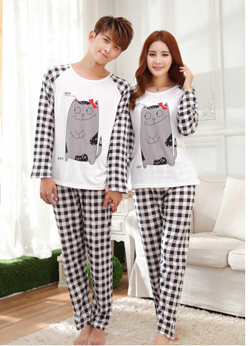 Foply 2018 Women's Fashion Sweet Womens Pajamas Animal Printing Indoor Clothing Home Suit Sleepwear Long Sleeve Trousers Pajamas