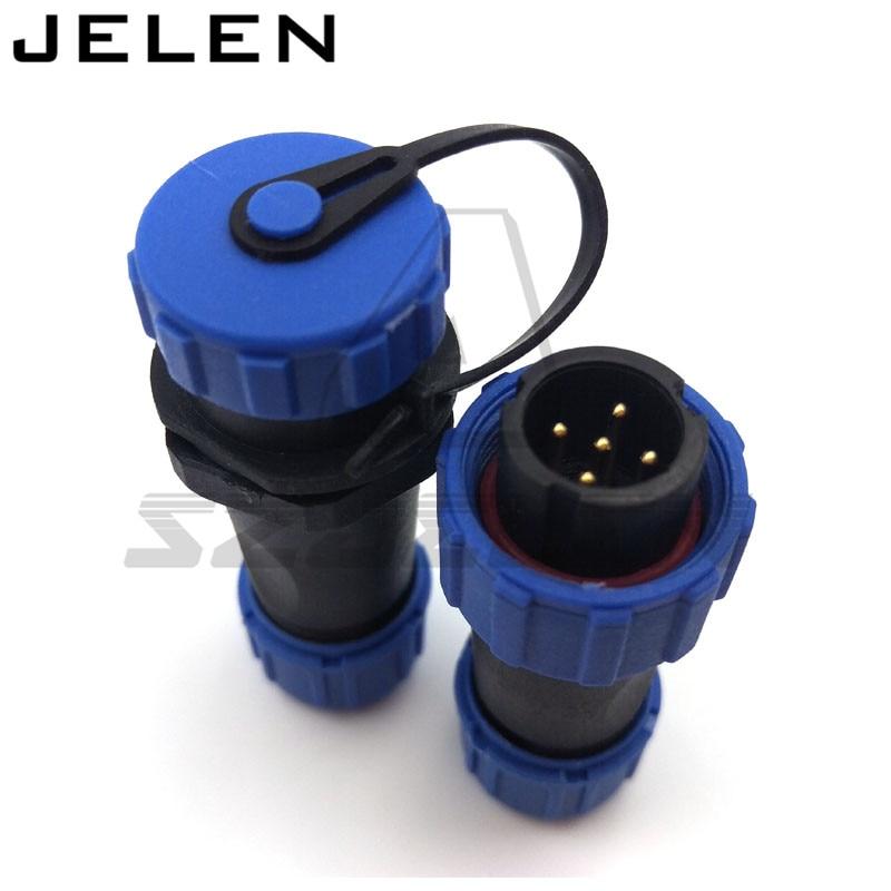 SP1310/P5-SP1311/S5, IP67 5 pin waterproof connector, Waterproof connector plug socket power supply wire 5 pin connector sp1310 waterproof