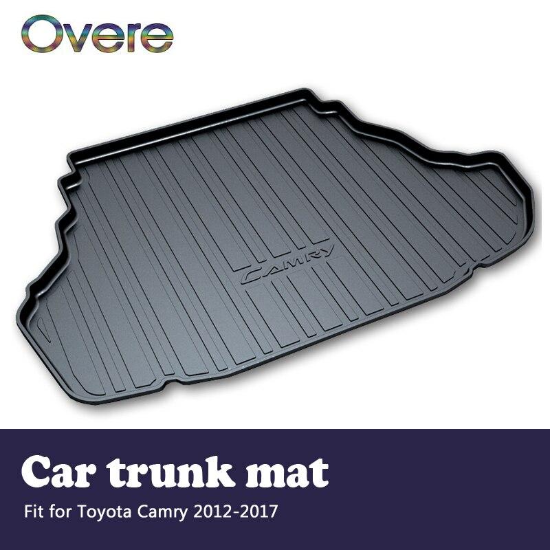 купить Overe 1Set Car Cargo rear trunk mat For Toyota Camry XV50 2012 2013 2014 2015 2016 2017 Boot Liner Anti-slip mat Accessories по цене 6251.69 рублей