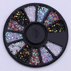 Image 3 - Karışık renk tırnak Rhinestones taşlar AB renk Rhinestone için düzensiz boncuk çivi sanat süslemeleri kristaller aksesuarları
