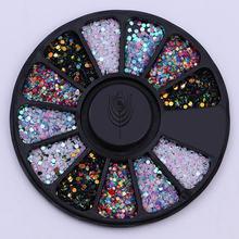 Mixed Color Nail Stone