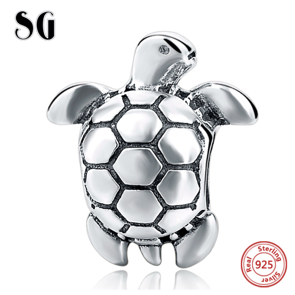 SG Fit Pandora Bracelets silver 925 Original Animal Turtle DIY Charms Pendant Authentic Jewelry for Women Fashion Accessories
