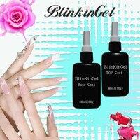 BlinkinGel 80ml Gel UV Base Coat Top Coat Acrylic UV Gel Nail Polish Matte Transparent Gel Polish Permanente Gelpolish Soak Off