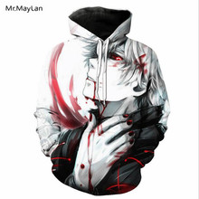 Mr.MayLan New Brand Anime Tokyo Ghoul Suicide 3D Print Pullovers Hoodies Men Women Hooded Sweatshirts Harajuku Hip Hop Hoody
