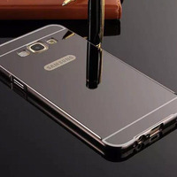 Top Quality Luxury Clear View Mirror Screen Flip Leather Cover Case Sfor Samsung Galaxy A8 A800