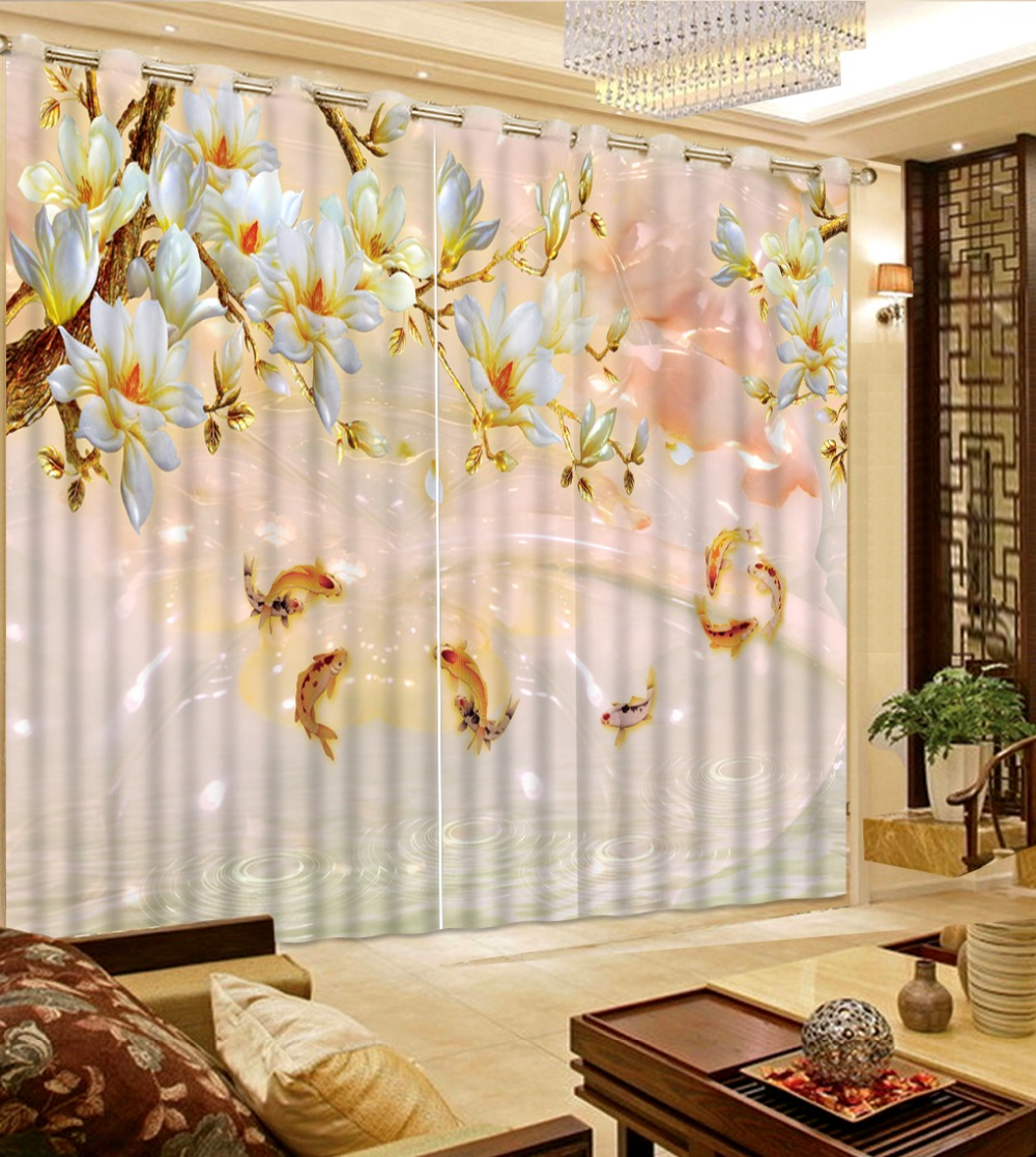 3D Curtains Luxury Living Room Curtains Marble Fish Flower Thermal Curtains Home Hotel Cafe Window Decoration Drape Cortinas 3D Curtains Luxury Living Room Curtains Marble Fish Flower Thermal Curtains Home Hotel Cafe Window Decoration Drape Cortinas