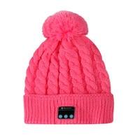 Smart Handfree Headset Cap Bluetooth Earphone Hat Winter Sport Soft Warm Wireless Stereo Music Headphone With