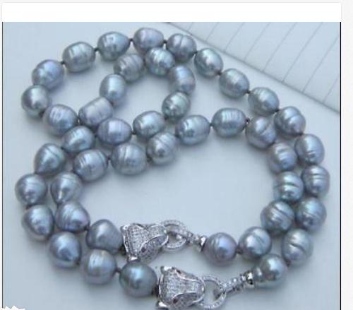 gorgeous 12-13mm south sea grey pearl necklace 18 &bracelet 7.5-8gorgeous 12-13mm south sea grey pearl necklace 18 &bracelet 7.5-8