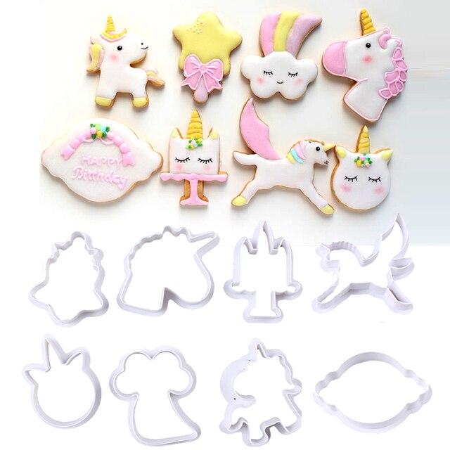 8Pcs/Set Cookie Cutters DIY Fondant Cake Embossing Stencil Mold