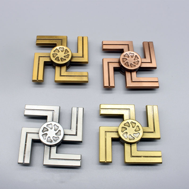 New Type Of Swastika Fidget Spinner Tri-Spinner Finger Tip Aluminum Alloy Pressure Relief Anxiety Artifact Hand Spinner