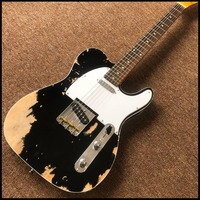 New style,TEL 6 Strings Electric Guitar, guitar relics by hands guitarra.real photos show