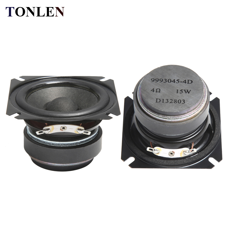 2pcs TONLEN 2.5 inch Full Range Speaker 4 ohm 15W HIFI Bluetooth Music Speakers Portable Loudspeaker Horn DIY Audio Home Theater