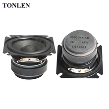 2pcs TONLEN 2.5 inch Full Range Speaker 4 ohm 15W HIFI Bluetooth Music Speakers Portable Loudspeaker Horn DIY Audio Home Theater oupushi ks812b wifi ceiling speakers active horn wall speakers trumpetto home theater pa system family background music system