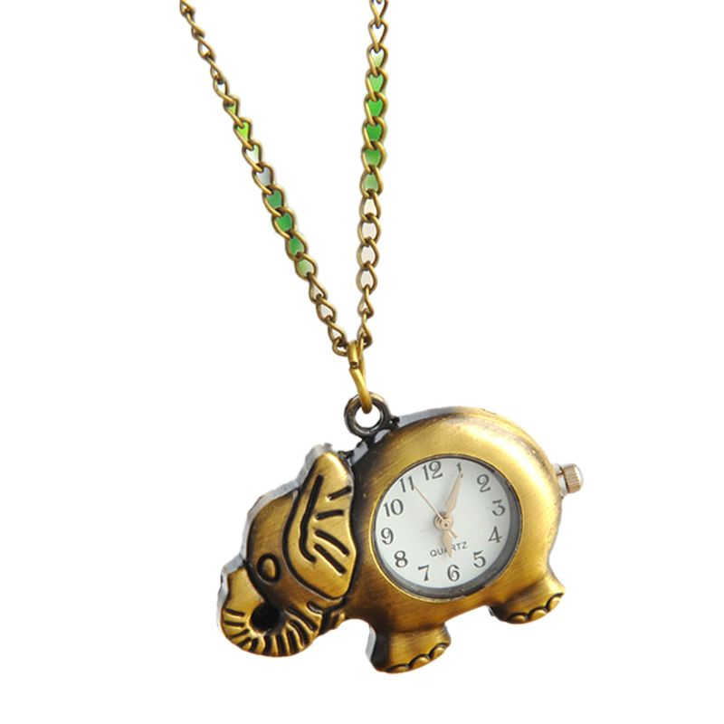 Sporting Vintage Fashion Pocket Watch Bronze Robot Creative Cute Decoration Pendant Chain Necklace Charm Antique Classic Watches Pocket & Fob Watches