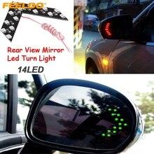 FEELDO 1 шт. Авто/автомобиль светодиодный поворотники со стрелками 14-smd боковое зеркало заднего поворота светодиодный индикатор 5 цветов на выбор# AM3108
