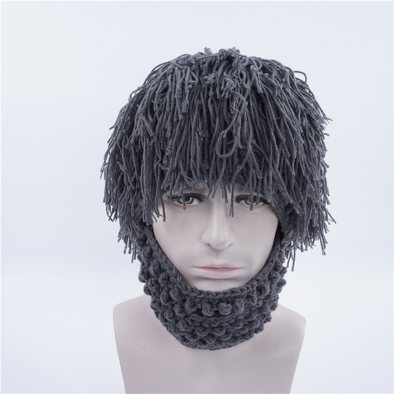 Personality Fashion Hats Tramp Crazy Scientist Handmade Hats Halloween Party Gifts Funny Masks Men Women Winter Hat Hand Weave chifres malevola png