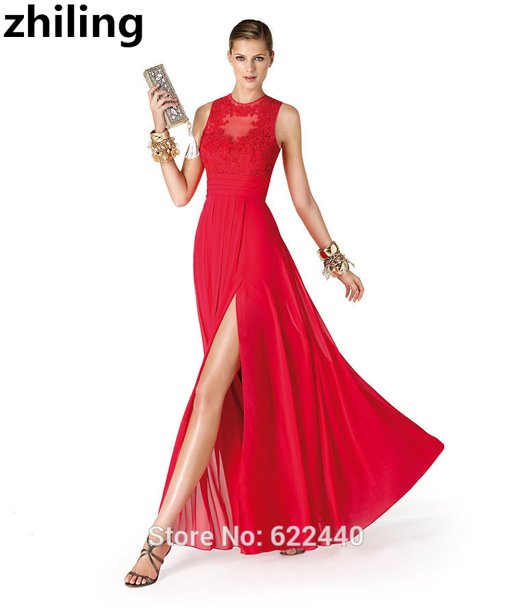 Spitze Top Rote Abendkleider Sexy Schiene Vorderabendkleid ...