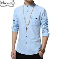 2016 Brand Men Casual Linen Cotton Shirt Summer Mens Slim Fit Soft Long Sleeve Shirts Chemise