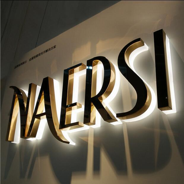 Custom Logo Signs,3d Led Sign Letters Stainless Steel