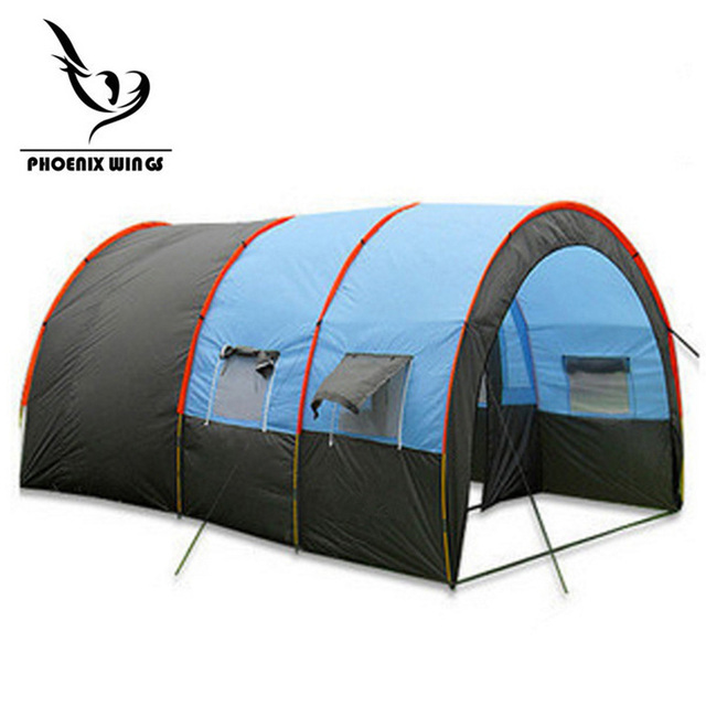 Tunnel 10 Person Tents Large C&ing tent Waterproof Canvas Fiberglass 5-8 People Family equipment  sc 1 st  AliExpress.com & Tunnel 10 Person Tents Large Camping tent Waterproof Canvas ...