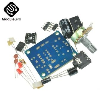 3 V-12 V LM386 mini placa amplificadora DIY Kit amplificador de potencia traje de resistencia Variable DIP8 IC LED condensador de audio DC005 Byond TDA2030
