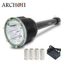 ARCHON D45 II дайвинг огни Diver Dive Фонарик 6000LM 100 м 6 * XM L2 U3 светодио дный подводные фонари фотографирования фонарь факел