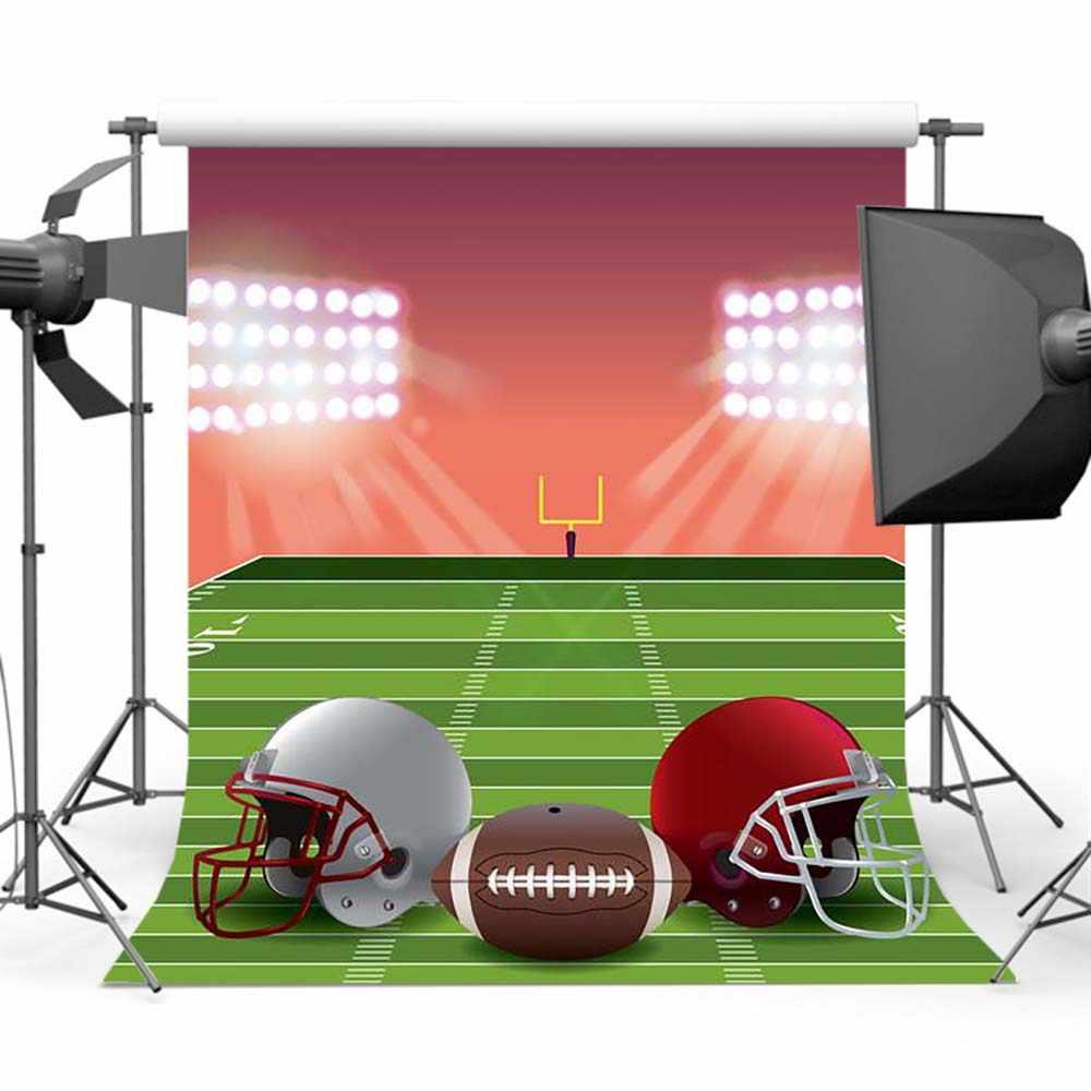 Mehofoto Super Bowl Rugby fondo para fotografía fútbol americano telón de fondo sesión de fotos Y-451