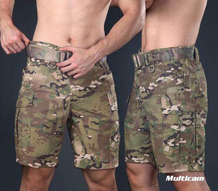 Warchief Multicam noir tropique militaire tactique Shorts Camouflage Cargo pantalon hommes Coyote marron loup gris (STG051132)