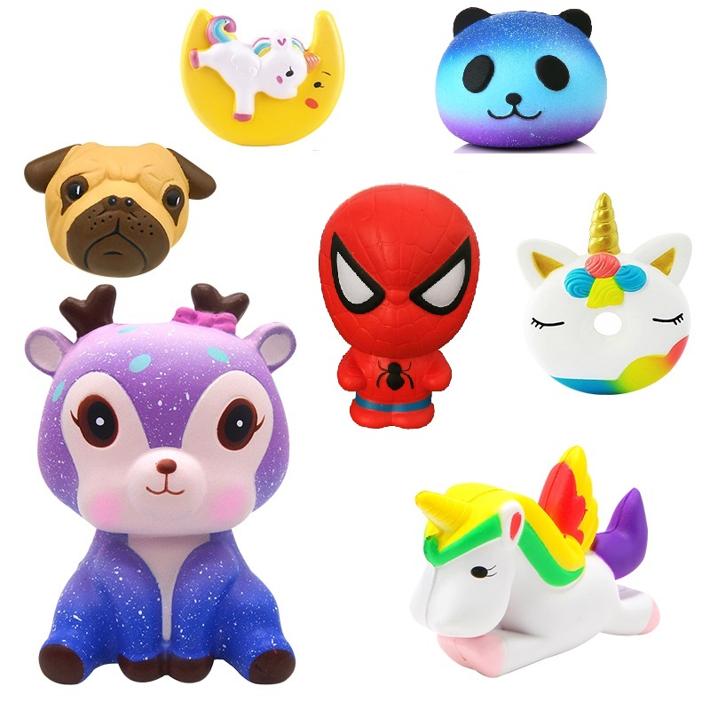 Antistress Squishes Unicorn Panda Deer Ice Cream PU Toy Kawaii Squishy Toys Healing Fun Stress Reliever Decompression Phone Toy Игрушка