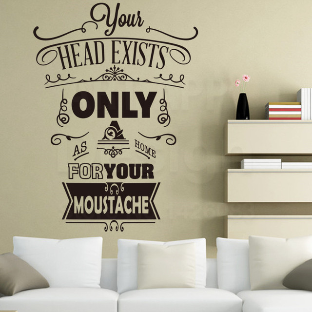 Art New Design House Decor Vinyl English Home Rules Words Wall Decals  Colorful Room Decoration Family