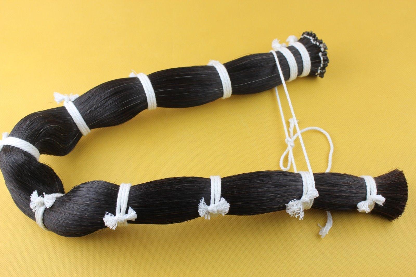 1Kg cheveux de cheval noir queue de cheval cheveux arc etalons cheval