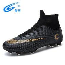 ZHENZU nuevos adultos al aire libre de los hombres zapatillas de fútbol  Zapatos altos TF FG botas de fútbol entrenamiento deport. 1329d9728ad42