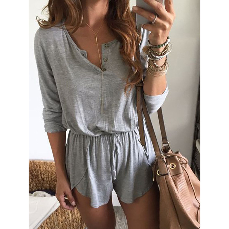 Womens Holiday Casual Mini Playsuit Ladies Jumpsuit Summer Beachwear Size 6-18