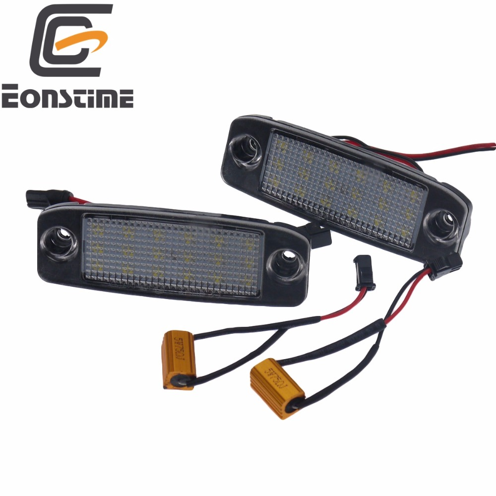 Eonstime 2Pcs Car LED License Plate Lights 12V SMD LED Number Plate Lamp Bulb Kit for Hyundai Sonata YF 10MY GF 10 Accessories