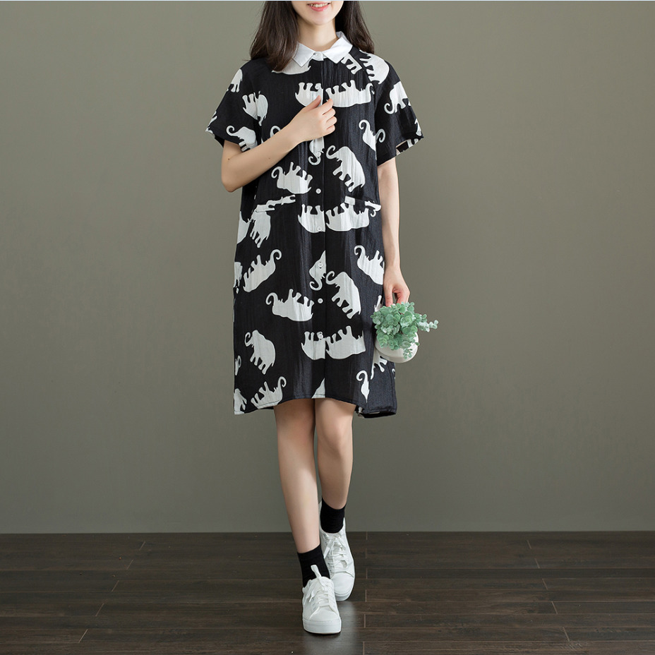 Buy now TriTrust 2018 New Pattern Casual Fresh Short Sleeve Cotton Printing