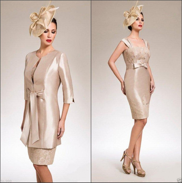 2cff0d87adc86 Sexy Knee Length Short Plus size Mother of the Bride Dresses Bolero Jackets  For Evening Dresses vestidos de la madre de la novia