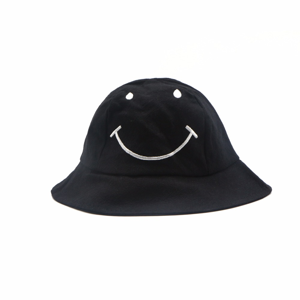 Baby Toddler Bucket Sun Protection Smiley Face Hat, Sun Protective Wide Brim Bucket Hat, Floppy Hat Baby Sun Blocking Hats