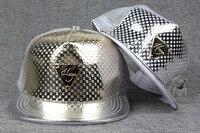 Free Shipping 2015A 444 Mesh Shiny Metal Triangle Mark Wholesale Snapback Hip Hop Hat Men Women