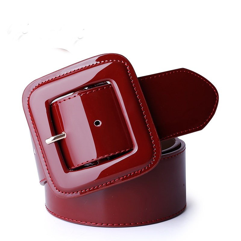 Catelles Wide Women's   Belt   Red Female Genuine leather   Belt   For Women Designers Brand High Quality Woman Waist   Belts   For Dresses