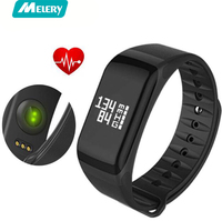 Fitness Tracker Wristband Heart Rate Monitor Smart Band F1 Smartband Blood Pressure With Pedometer Bracelet