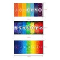Hot Sale Rainbow Beach Mat Yoga Mat Mandala Blanket Wall Hanging Tapestry Stripe Towel Yoga Mats Home Colorful Tablecloth