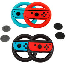2pcs Joy-Con Steering Wheel for Nintend Switch NS Controller Wheel Grip Racing Wheel Handle Light Version For NS switch + 4 Caps