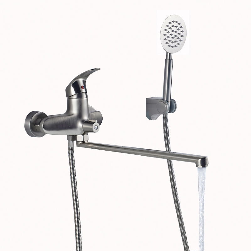 Best Quality Long Outlet Spout Bathtub Faucet Wall Mounted Longer ...