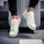 Z 2017 Estilo Tendencia Shell Hombres Zapatos Casuales Rojo Colores Diseñador de moda Salvaje Europeo Hombres Zapatos Que Caminan Calzado Tamaño de Los Hombres 39-44