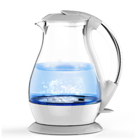 Household Electric Kettle Ring blue high borosilicate glass Electric Kettle 1.7L 1800W White Electric Boiling Pot
