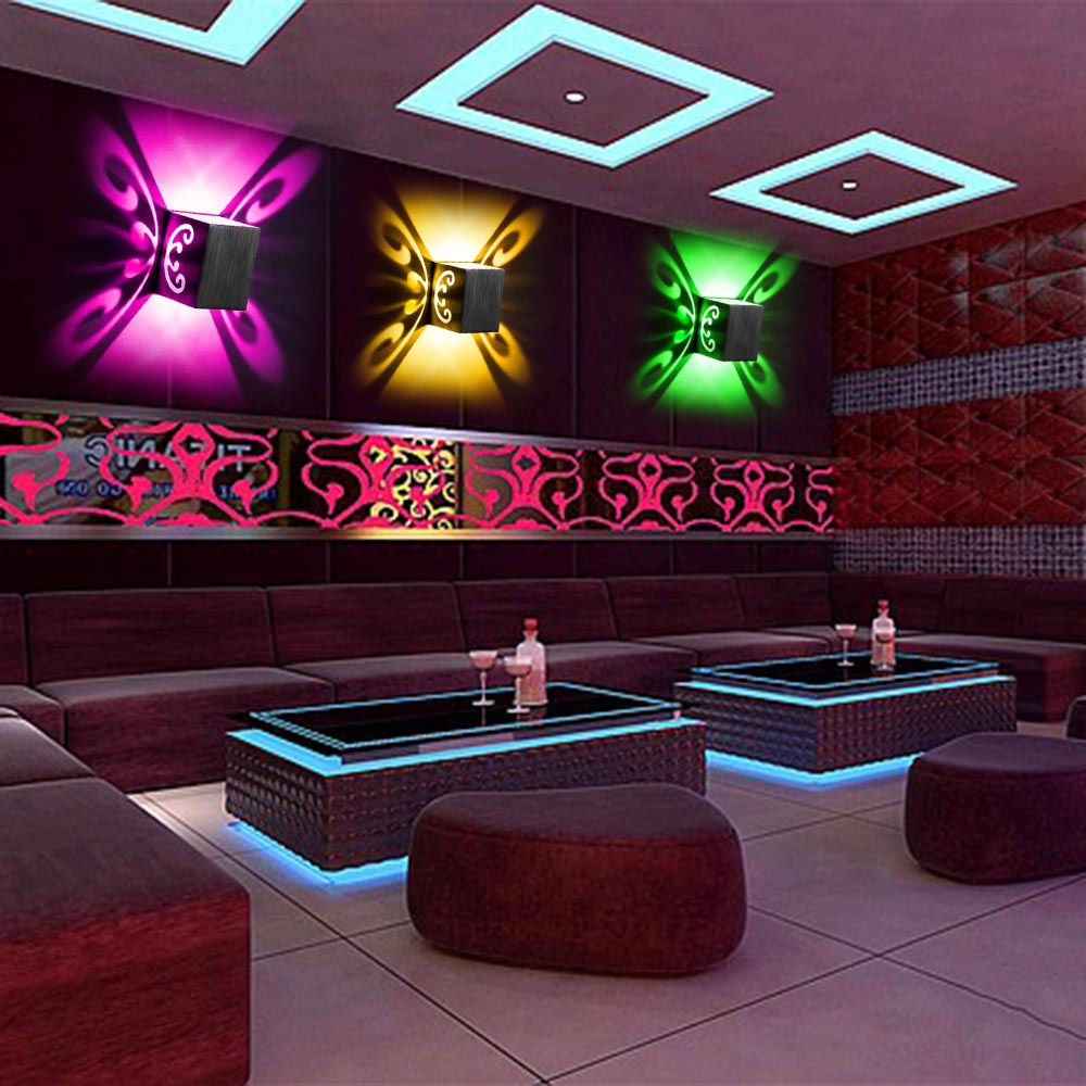 3W Butterfly LED Nástěnná sušička Povrch pro chodbu Pokoj Corridor Restroom Koupelna KTV Bar Hotel Obývací pokoj CA