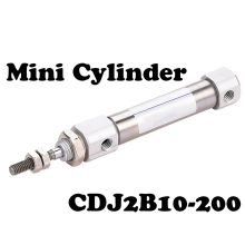 CDJ2B10-200 model 10mm Bore 200mm Stroke Pneumatic Cylinder CDJ2B10x200 CDJ2B10*200 SMC Type Mini Air