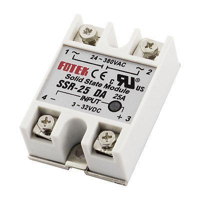 SSR-25 DA 25A DC/AC 24V-380V Solid State Relay for PID Temperature Controller free shipping temperature controller 3 32vdc 24 380vac ssr 10a dc ac solid state relay